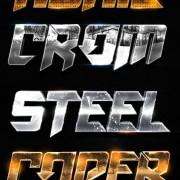 Vintage metal textured psd styles