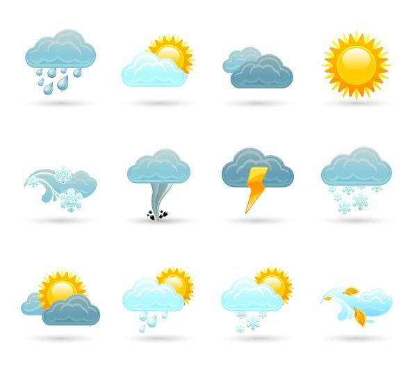 Weather cloud icons vectors