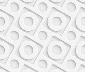 White decorative pattern vector background 02