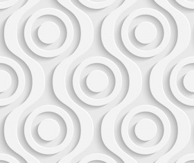 White decorative pattern vector background 03