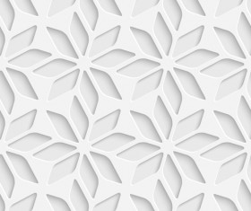 White decorative pattern vector background 05