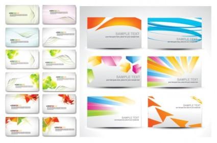 Fashion Elegant Business Cards Vector Set Free Download