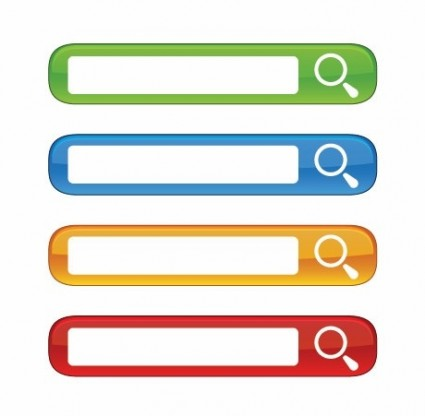 Vector colorful website search boxes material