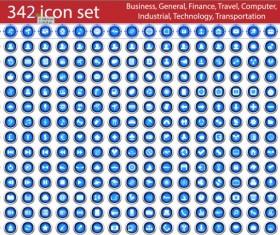 342 Kind blue free icons set