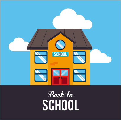 Back School Cartoon Style Background Vector 01 Free Download