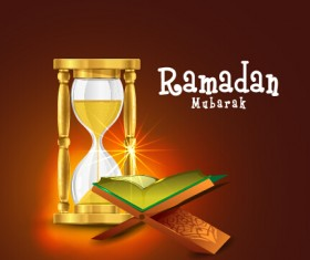 Background ramadan mubarak vector design set 05