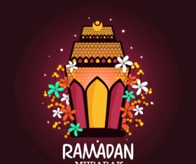 Background ramadan mubarak vector design set 06