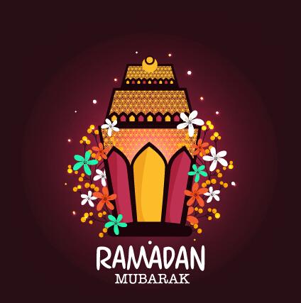 Background Ramadan Mubarak Vector Design Set 06 Vector