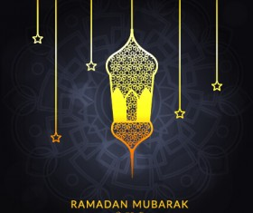 Background ramadan mubarak vector design set 09