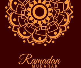 Background ramadan mubarak vector design set 10