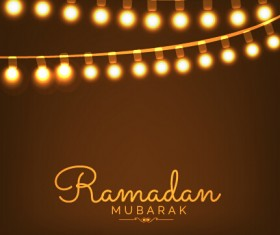 Background ramadan mubarak vector design set 11
