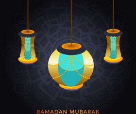 Background ramadan mubarak vector design set 12