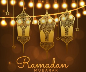 Background ramadan mubarak vector design set 13