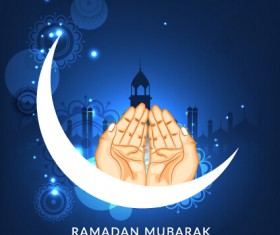 Background ramadan mubarak vector design set 14