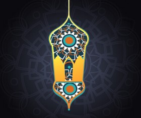 Background ramadan mubarak vector design set 15