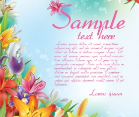 Beautiful lilies art background design 01