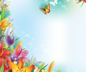 Beautiful lilies art background design 03
