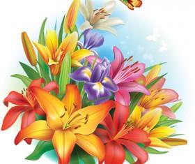 Beautiful lilies art background design 04