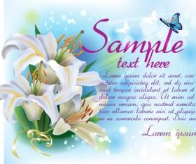Beautiful lilies art background design 05