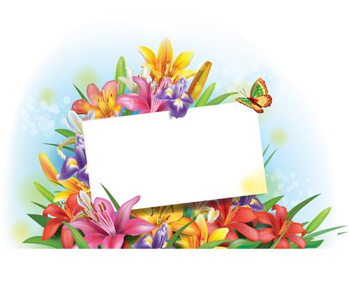 Beautiful Lilies Art Background Design 06
