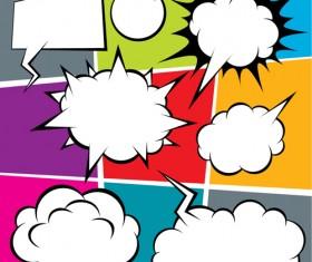 Blank text clouds cartoon styles vector 04