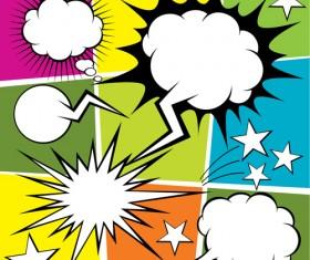 Blank text clouds cartoon styles vector 06