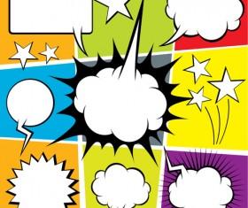 Blank text clouds cartoon styles vector 08