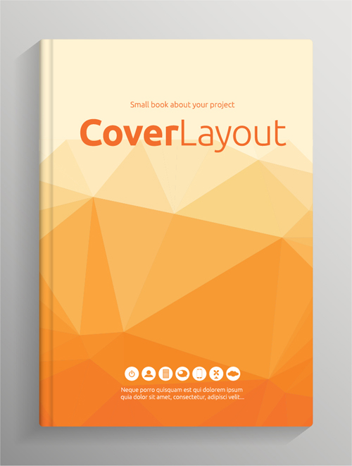 Book Cover Design Vector Free Download : Brochure and book cover creative vector