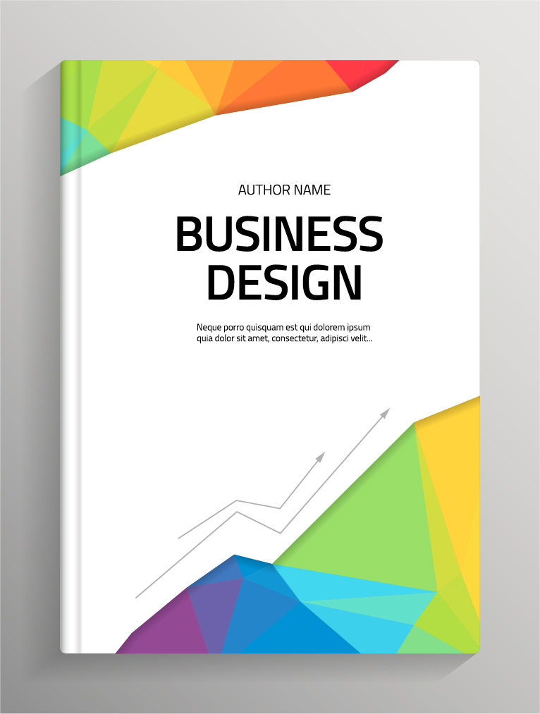 Book Cover Design Corel Draw : Brochure and book cover creative vector free download