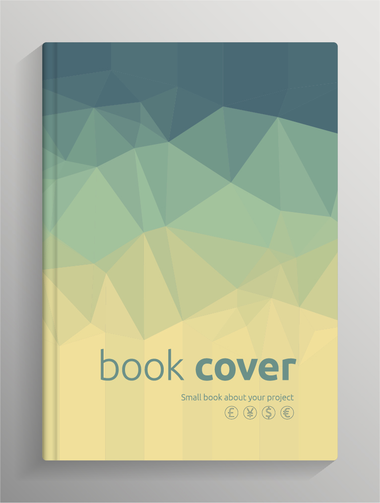 Poetry Book Cover Vector : Brochure and book cover creative vector