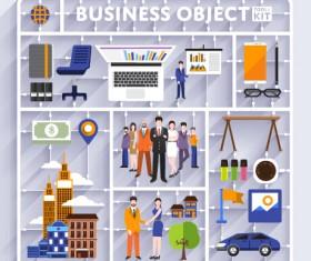 Business object flat vector design set 06
