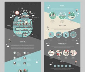 Business page design template vector 03