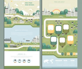 Business page design template vector 04