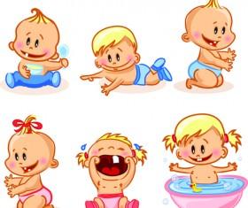 Cartoon baby funny vector material 03