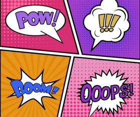 Cartoon speech bubbles for your text vector 01