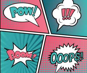Cartoon speech bubbles for your text vector 02