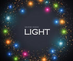 Colored light dot frame vector material