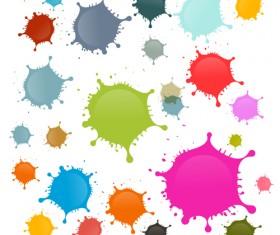 Colorful blot spatter vector design set 06