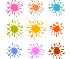 Colorful blot spatter vector design set 10