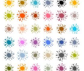 Colorful blot spatter vector design set 11