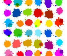 Colorful blot spatter vector design set 15