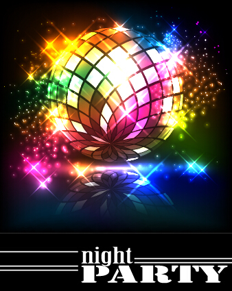 Disco Night Party Neon Background Vector 10 Free Download