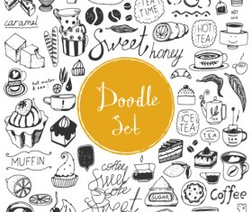Doodle material vector set 01