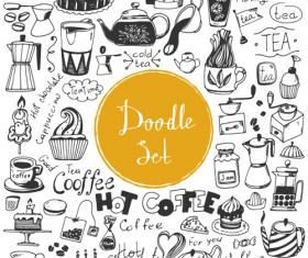 Doodle material vector set 02
