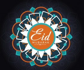 Eid mubarak celebrations vector background 02