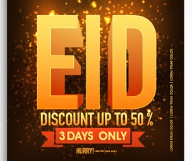 Eid special offer sale flyer vector set 01