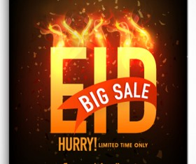 Eid special offer sale flyer vector set 09