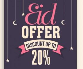 Eid special offer sale flyer vector set 11