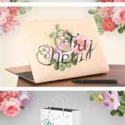 Elegant font hand drawn material
