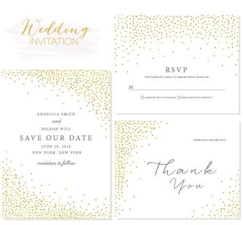 Elegant Wedding Invitation Design: Elegant Wedding Invitations Creative Vector Material 02